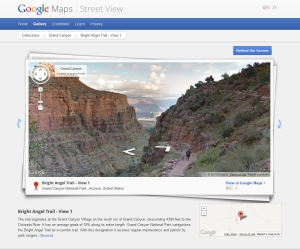 Screenshot of the Google Street View trail page.