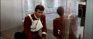 See that look on Kirk's face?  That's shock. (And, let's face it, Shatner played this well.) ( (c) Paramount)
